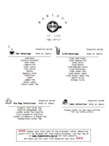 Barista at Law-Our Beverage Menu